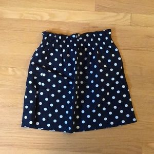 J. crew polka dot skirt